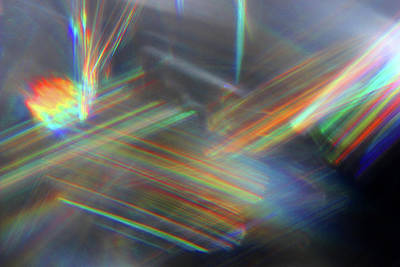 Photograph - Crystal Reflection Abstract by Mary Bedy