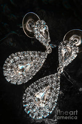 Cubic Zirconia Photograph - Crystal Rhinestone Jewellery by Jorgo Photography - Wall Art Gallery