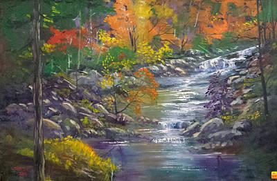 Ballard Painting - Crystal River Flows by Bryan Benson