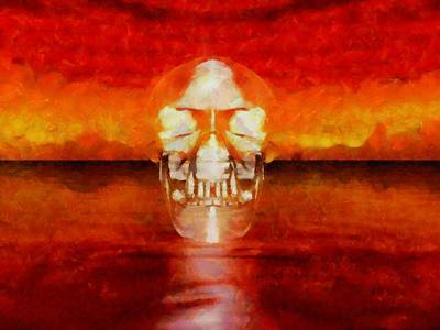 Medieval Painting - Crystal Skull by Esoterica Art Agency