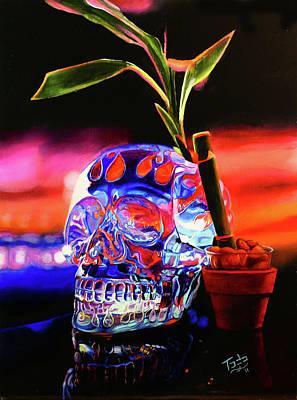 Mayan Painting - Crystal Skull by Todo Brennan