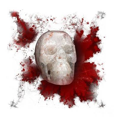 Photograph - Crystal Skull With Red On Transparent Background by Terri Waters
