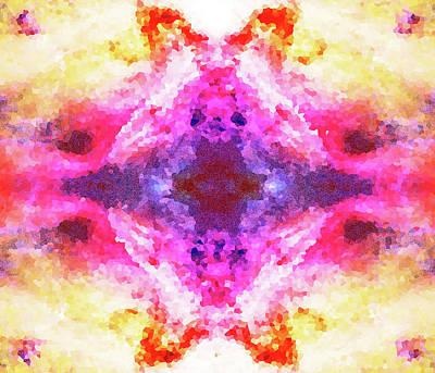 Crystalline Mixed Media - Crystal Sun by Allison Carpenter