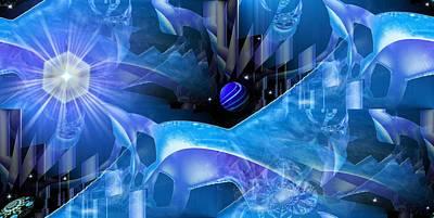 Mixed Media Royalty Free Images - Crystal Universe Royalty-Free Image by Romuald  Henry Wasielewski