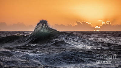 Photograph - Crystal Wave Sunset Napali Coast Kauai Hawaii by Dustin K Ryan