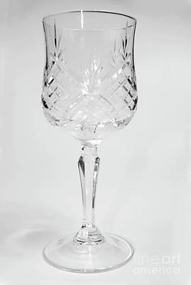 Kiddush Photograph - Crystal Wine Goblet by Ilan Rosen