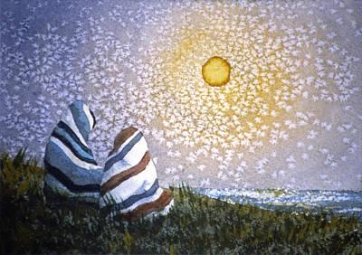 Painting - Crystaline Sun by Lynda Hoffman-Snodgrass