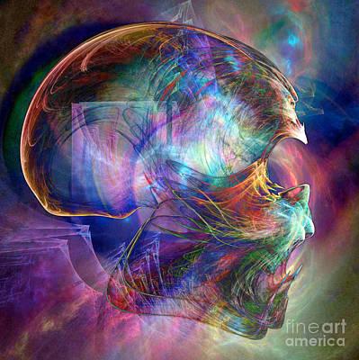 Digital Art - Crystalline Body by Helene Kippert