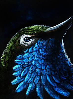 Hummingbird Painting - Crystalline by Danielle Trudeau