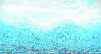 Crystalline Digital Art - Crystalline Mountain Light by Joel Bruce Wallach