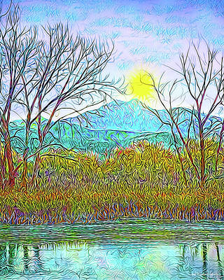 Crystalline Digital Art - Crystalline Twilight Reflections - Boulder County Colorado by Joel Bruce Wallach