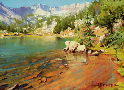 Mountain Paintings - Crystalline Waters by Steve Henderson