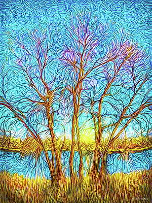 Crystalline Digital Art - Crystalline Winter Morning by Joel Bruce Wallach