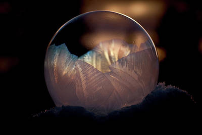 Photograph - Crystallizing Bubble by Loni Collins