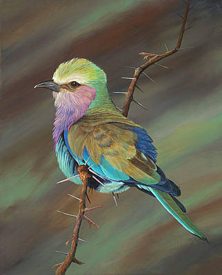 Art Print featuring the painting Crystal's Bird by AnnaJo Vahle
