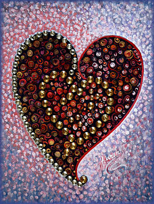 Painting - Crystals - Heart by Harsh Malik