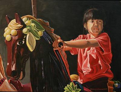 Painting - Crystalyn-daddy by Rosencruz  Sumera