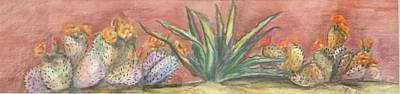 Painting - Cactus In A Row by Charme Curtin