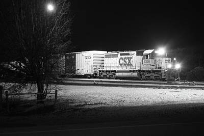 Photograph - Csx @ Night A by Joseph C Hinson Photography