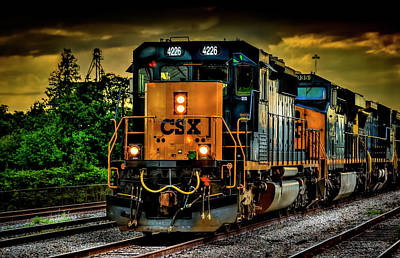 Train Photograph - Csx 4226 by Marvin Spates