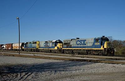 Photograph - Csx 5826 In Cayce by Joseph C Hinson Photography