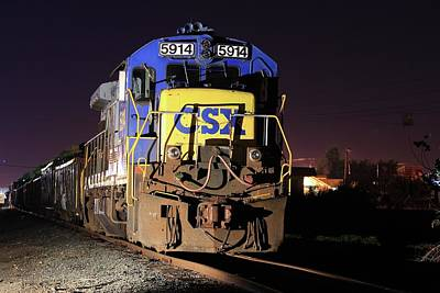 Photograph - Csx 5914 by Joseph C Hinson Photography