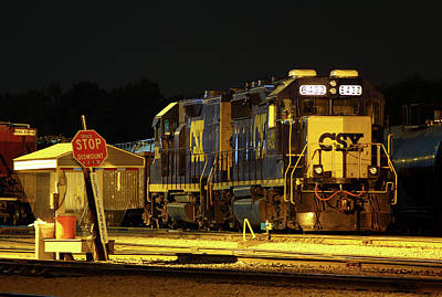 Photograph - Csx #6432 @ Night Color by Joseph C Hinson Photography