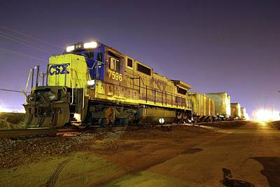 Photograph - Csx 7596 by Joseph C Hinson Photography