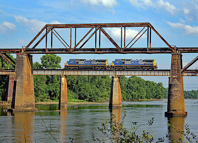 Photograph - Csx Congaree River Bridge 10 by Joseph C Hinson Photography