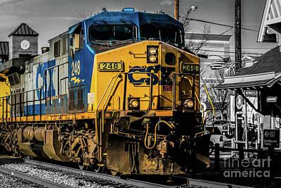 Csx Engine Gaithersburg Md Art Print