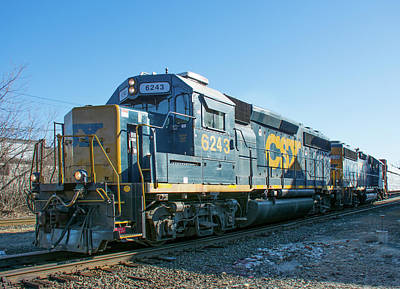 Photograph - Csx Gp40-2 #6243 by John Black