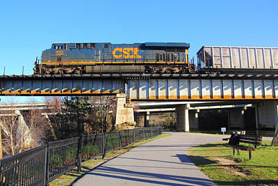Photograph - Csx In Riverfront Park by Joseph C Hinson Photography