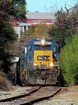 Photograph - Csx Industrial Track by Joseph C Hinson Photography