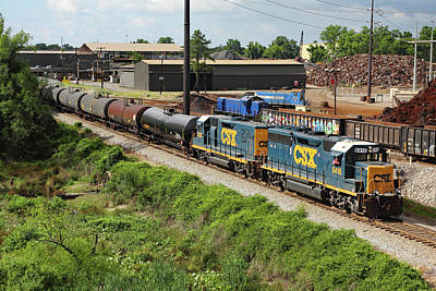 Photograph - Csx Local Train In Cayce by Joseph C Hinson Photography