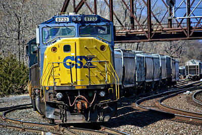 Photograph - Csx Moving Freight by Mike Martin