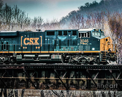Csx On Trestle Art Print