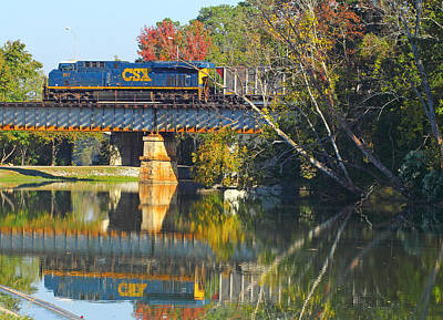 Photograph - Csx Over Canal Walk  by Joseph C Hinson Photography
