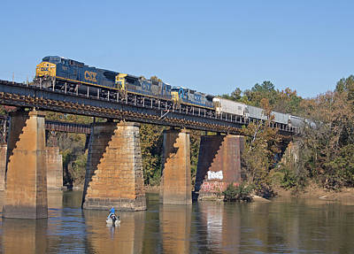 Photograph - Csx Q463 11/3/2013 A by Joseph C Hinson Photography