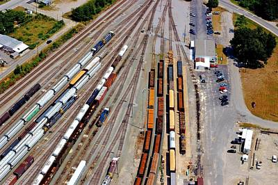 Photograph - Csx Railyard From The Air by Joseph C Hinson Photography