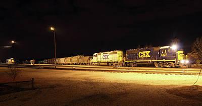 Photograph - Csx Railyard Panoramo  by Joseph C Hinson Photography