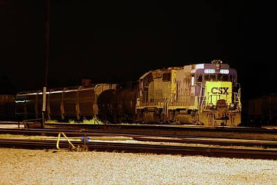 Photograph - Csx Road Slug At Night by Joseph C Hinson Photography