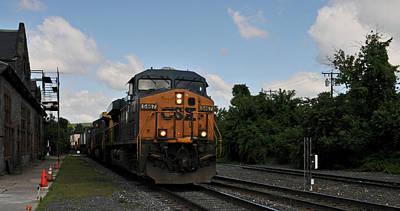 Photograph - Csx Rolls Past Palmer Depot by Mike Martin