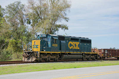 Photograph - Csx Sd40-3 by John Black