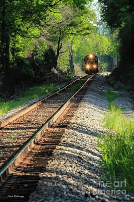 Photograph - Csx Three Light Spotter Locomotive Train Art by Reid Callaway