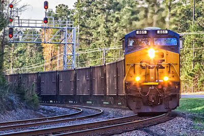 Locamotive Photograph - Csx Train 2 by Gestalt Imagery