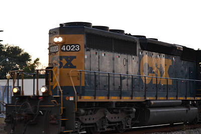 Photograph - Csx Train Engine 4023 by rd Erickson