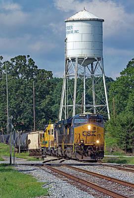 Photograph - Csx Train In Pelzer, South Carolina by Joseph C Hinson Photography