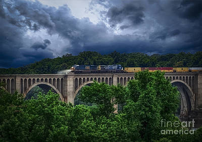 Csx Train Trestle Art Print