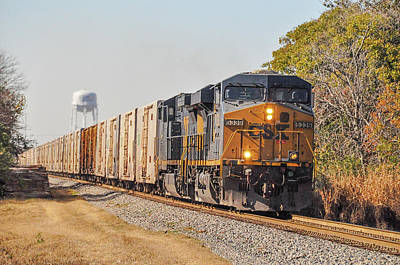 Photograph - Csx - Tropicana Juice Train by John Black