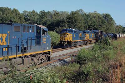 Photograph - Csx Two Train Meet 2013 by Joseph C Hinson Photography